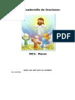 Cuadernillo de Oraciones Marzo