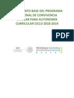 Documento base del Programa Nacional de Convivencia Escolar para Autonomía Curricular ciclo 2018 2019