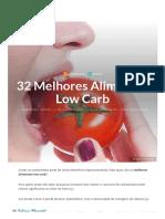 32 Melhores Alimentos Low Carb
