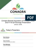 CAg ConAgra PF Pinnacle acquisition Jun 27 2018