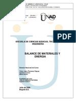 Modulo Balance de Materia y Energia