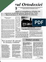 Parintele Dumitru Staniloae in Vestitorul Ortodoxiei Nr. 189 din 10 Octombrie 1997