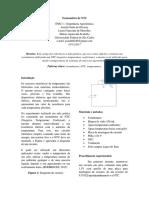 Relatório Termomêtro NTC