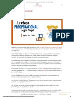 ¿Qué Es La Etapa Preoperacional Del Desarrollo Según Piaget