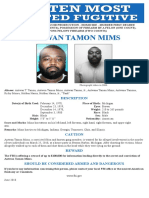 FBI Most Wanted fugitive Antwan Tamon Mims