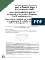 Generalizacion de La Gestion Por Procesos Como Plataforma de Trabajo de Apoyo a La Mejora de Las Organizaciones