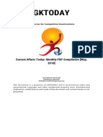 Current Affairs Today Monthly PDF Compilation May 2018