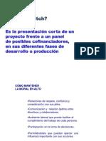 Pitch y Presentación de Proyectos