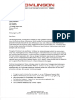 Tomlinson Letter to City - June 25, 2018