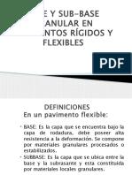 Base y Sub-base Granular