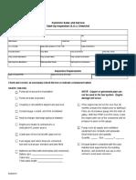 Startup Inspection Checklist