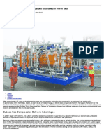 Compression Moves From Topsides to Seabed in North Sea