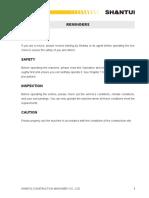 Operation and Maintenance Manual of SD22 Shantui