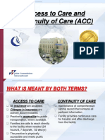 access to care and continuity of care