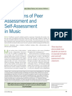 Application of Peer Assessment and Self Assessment in Music