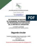 Segunda Circular Congreso Internacional Aapp Parana Argentina