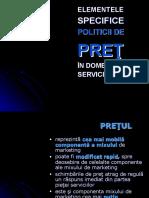 Curs 7 POLITICA de PRET in Servicii