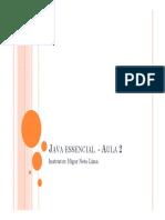 Java Essencial - Aula 2