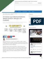 ChatBot - 4 Motivos Que Desenvolvedores Devem Prestar Atenção Aos Chatbots _ Ramos Da Informática