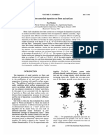 Diffusion-controlled Deposition on Fibers and Surfaces