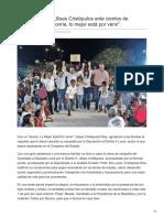 """26-06-2018 Cierra campaña Ulises Cristópulos ante cientos de simpatizantes, """"Sonríe, lo mejor está por venir""""."""