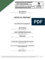 State Fire Marshal Inspector Report - Wild Lightning 6.10.2018