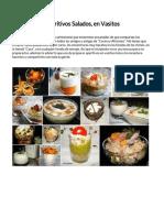 Vasitos - Aperitivos Salados en Vasitos - Recopilación
