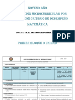 Noveno Plan Destrezas Matemática 2016-2017 Fabian