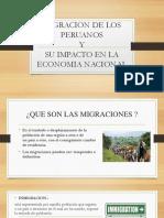 Migracion Externa en El Peru