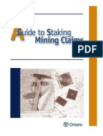 A Guide to Staking Mining Claims