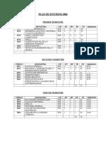 Plan de Estudios 2006