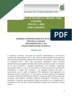 (PTDI) Municipio de Caranavi.