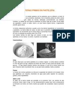 Materias Primas en Pastelería