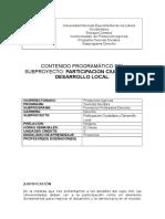 Participación Ciudadana y Desarrollo Local