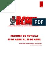 Resumen de Noticias Radio Bemba