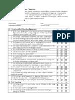 Factory Vessel Hygiene Checklist