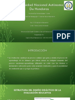 Estructura Del Diseño Didáctico De La Evaluación Educativa