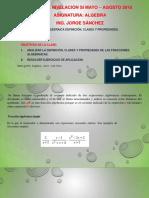 Fracción Algebraica Definición, Clases y Propiedades. Simplificación.