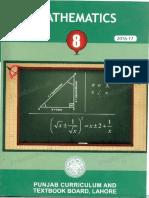 8th Class Mathematics Book Punjab Curriculum and Textbook Board Lahore