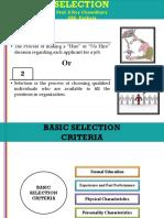 Selection SRC