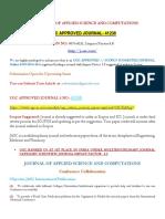 Ugc Approved Journal-jasc