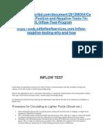 Inflow Test