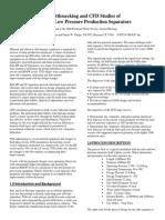 Debottlenecking and CFD Studies of H&LP Low Production Separators