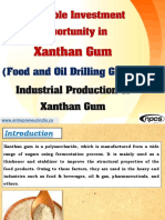 Profitable Investment Opportunity in Xanthan Gum (Food and Oil Drilling Grade)