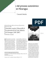 Un recuento del proceso autonómico  en Nicaragua-Consuelo Sánchez