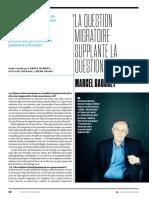 Marcel Gauchet La Question Migratoire Supplante La Question Sociale - L'Obs 2018 06 28