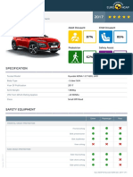 Euroncap 2017 Hyundai Kona Datasheet