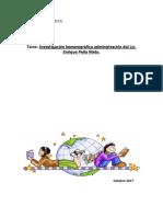 Investigación hemerográfica administración del Lic. Enrique Peña Nieto.