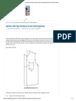 Gambar Pola Baju Kemeja Pria Dan KeterangannyaTutorial Menjahit Lengkap