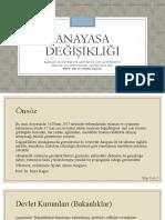 Anayasa Değişikliği Sunu Dosyası